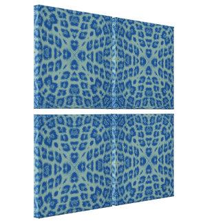 Blue Retro Animal Print Skin Of Leopard