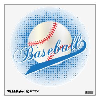 Blue Retro Baseball Design Wall Decal