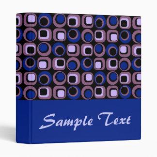 Blue Retro Binder Notebook Vinyl Binder