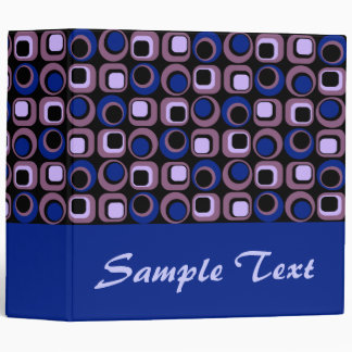 Blue Retro Binder Notebook