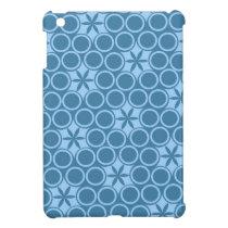 Blue Retro Bubbles iPad Mini Case