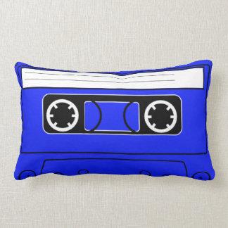 Blue retro cassette pillow lumbar 80s