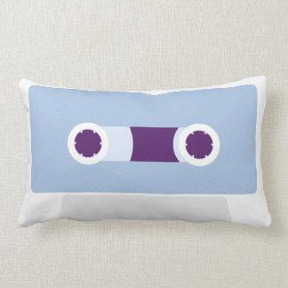Blue Retro Cassette Tape Lumbar Pillow