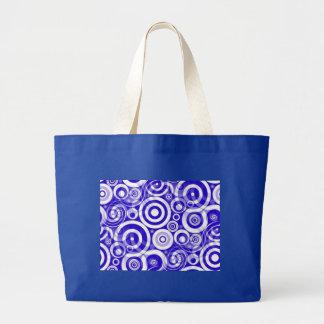 blue_retro_circles tote bags