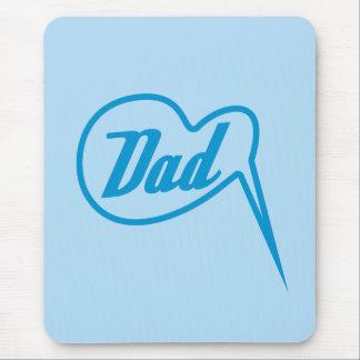 blue retro dad speech bubble mousepad