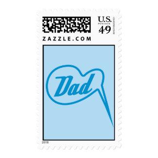 blue retro dad speech bubble stamp