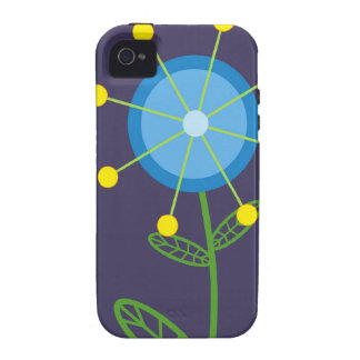 Blue Retro Flower Case-Mate Case Vibe iPhone 4 Covers