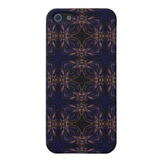 Blue Retro Fractal Pattern Case For iPhone SE/5/5s