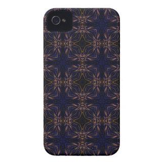Blue Retro Fractal Pattern Case-Mate iPhone 4 Case