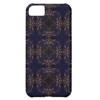 Blue Retro Fractal Pattern Cover For iPhone 5C