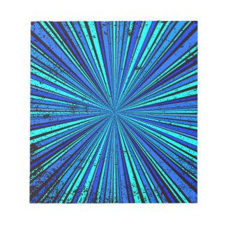 Blue Retro Grunge Background Notepad