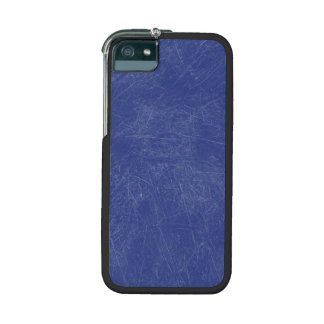 Blue Retro Grunge Scratched Texture iPhone 5 Case