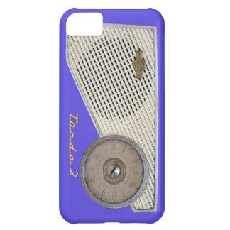blue retro radio case for iPhone 5C