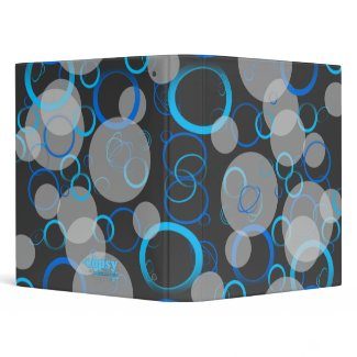 Blue Retro Rings Avery Binder binder