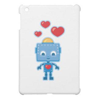 Blue retro robot Art Case For The iPad Mini