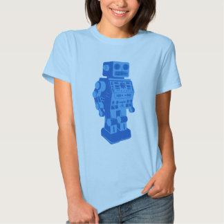 Blue Retro Robot Shirts