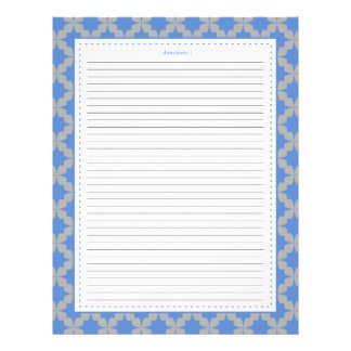 Blue Retro Star Additional Recipe Pages