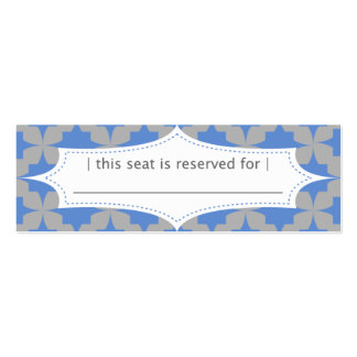 Blue Retro Star Place Card Double-Sided Mini Business Cards (Pack Of 20)