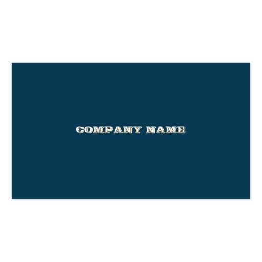 blue retro stripes v.2 business cards (back side)
