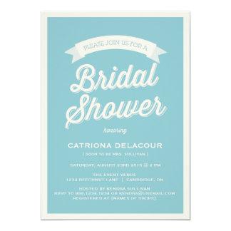 BLUE RETRO TYPOGRAPHY | BRIDAL SHOWER INVITATION