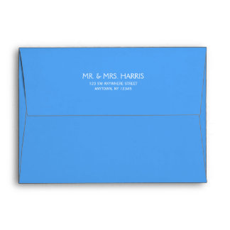 Blue Return Address A7 Envelope