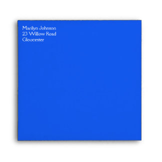 """Blue Return Address Envelope for 5"""" Square"""
