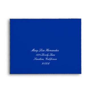 Blue Return Address Envelope for RSVP