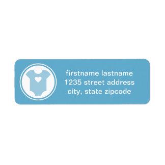 Blue Return Address Labels | Baby Shower