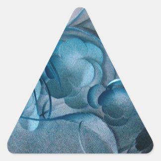 Blue Rhapsody by Robert E Meisinger 2014 Triangle Stickers