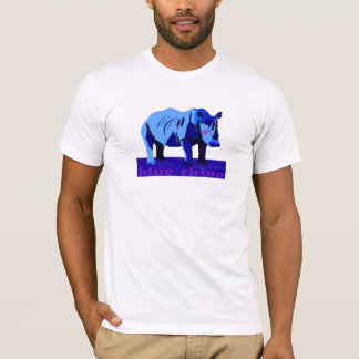 Blue Rhino with Glasses T-Shirt