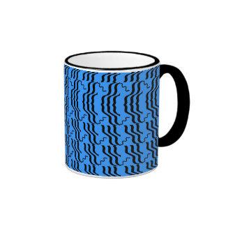 BLUE RHYTHM cup Ringer Coffee Mug