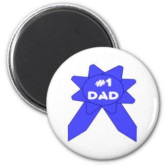 Blue Ribbon #1 Dad Magnet