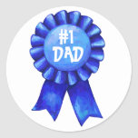 Blue Ribbon #1 Dad Stickers