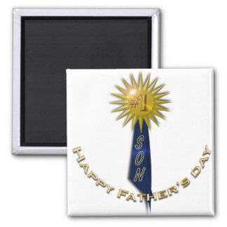 Blue Ribbon #1 Father's Day To Son Magnet