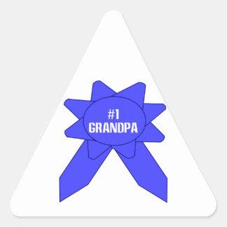 Blue Ribbon #1 Grandpa Stickers