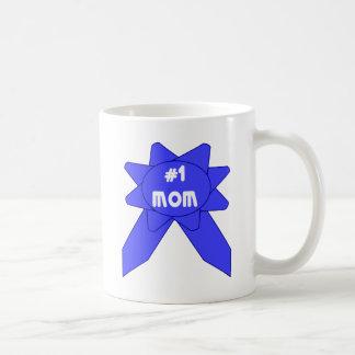 Blue Ribbon #1 Mom Coffee Mug