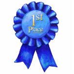 """Blue Ribbon 1st Place Cutout<br><div class=""""desc"""">Congratulations! You&#39;ve won 1st Place. Celebrate with a First Place Ribbon Award Acrylic Cut Out designed by Imagine That! Design. You&#39;ll love our original art with our signature texture of a fancy blue ribbon with the words 1st Place in gold lettering inside. Show off your accomplishment with this prized blue...</div>"""
