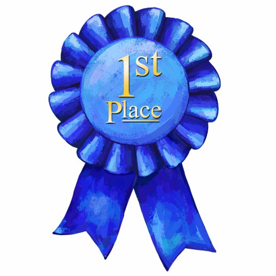 Blue Ribbon 1st Place Cutout | Zazzle.com
