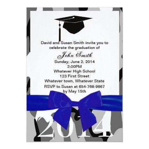 Camo Graduation Invitations Best Printable Invitation Design Ideas