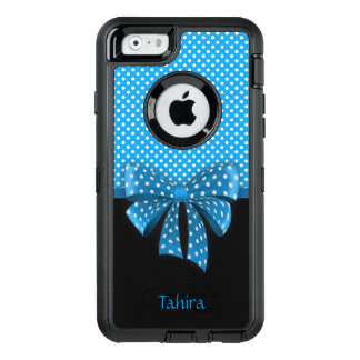 Blue Ribbon and Polka Dots OtterBox Defender iPhone Case