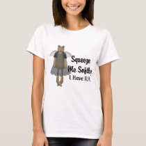 Blue Ribbon Angel Bear :: Squeeze Me Softly. T-Shirt