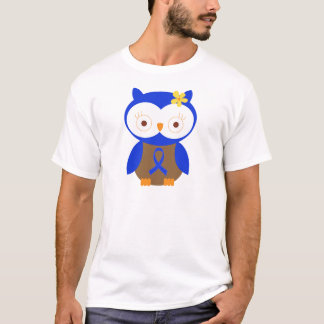 Blue Ribbon Awareness Owl T-Shirt