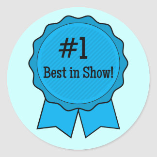 Blue Ribbon Best in Show Classic Round Sticker