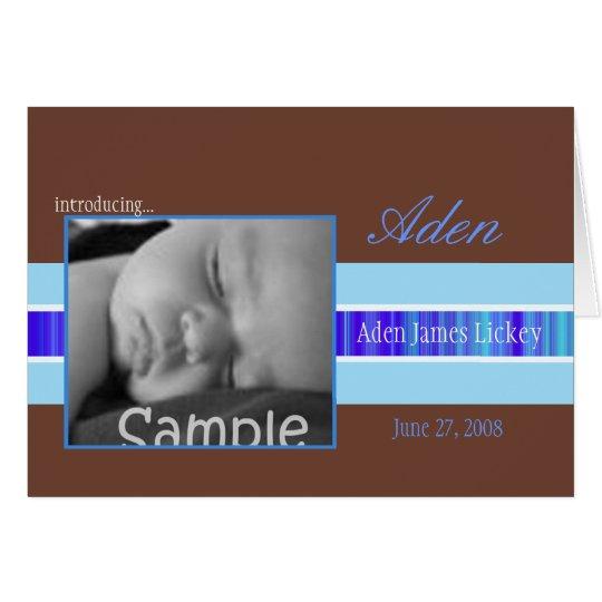 Blue Ribbon Birth Announcement