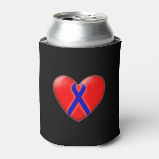 Blue ribbon can holder can cooler