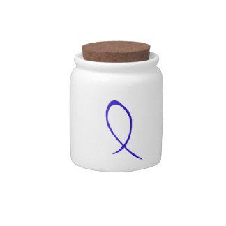 Blue Ribbon Candy Jar