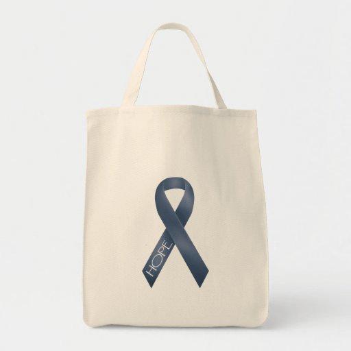 Blue Ribbon Canvas Bag