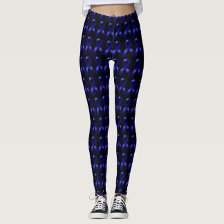 Blue Ribbon Colon Cancer Awareness Leggings