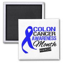 Blue Ribbon Colon Cancer Awareness Month Magnet
