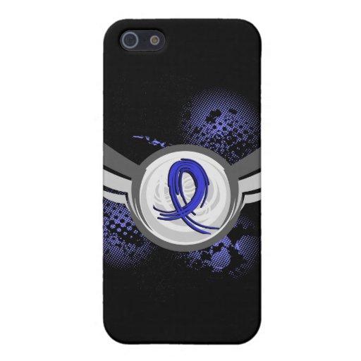 Blue Ribbon con las alas CFS iPhone 5 Carcasa